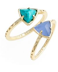 Kendra Scott Women'S 'Anna' Triangle Rings - Oasis (Set Of 2) - Lyst