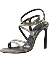Lanvin Snake Pearl Sandal brown - Lyst