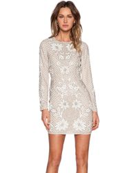 Needle & Thread Floral Mesh Sequin Dress - Lyst