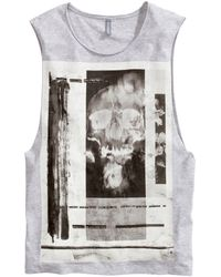 H&M Vest Top with A Print - Lyst
