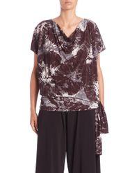 Issey Miyake | Alocasia-print Short-sleeve Jersey Top | Lyst