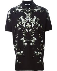 Givenchy Baby's Breath-Print Jersey Polo Shirt - Lyst