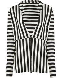 Osklen - Striped V-Neck Blazer - Lyst