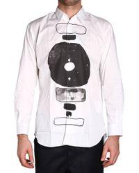 Comme des Garçons   White Printed Shirt   Lyst