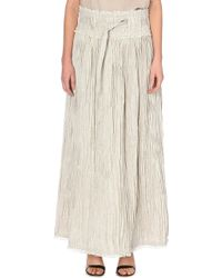 Loewe Floor Length Pleated Skirt - Lyst