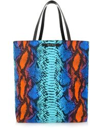 House Of Holland Tote Amaze Blue Snake  Purple Viper - Lyst
