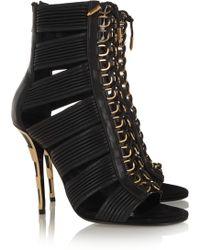 Balmain Leather Sandals - Lyst
