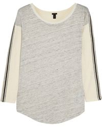 J.Crew Color-block Linen and Cotton Top - Lyst