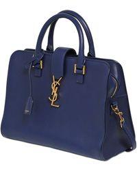 Saint Laurent Baby Cabas Monogramme Bag - Lyst
