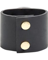 Marni Large Black Resin Stone Cuff Bracelet - Lyst