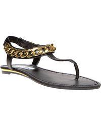 Steve Madden Hottstuf T-Strap Chain Sandals - Lyst