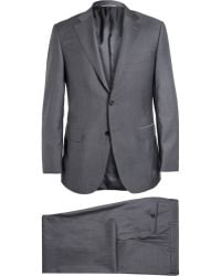 Canali Grey Super 130S Wool Suit - Lyst