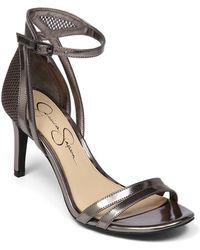 Jessica Simpson Mayetta High-Heel Leather Sandals - Lyst