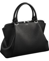 Cartier C De Leather Small Tote - For Women black - Lyst