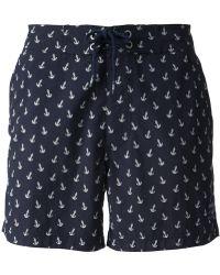 Woolrich - Anchor-Print Swim Shorts - Lyst