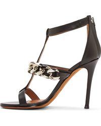 Givenchy Black Curb Chain Mirtilla Heels - Lyst