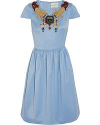 Mary Katrantzou Julie Embellished Woolgabardine Mini Dress - Lyst