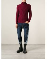 DSquared2 Contrasting Colour Loose Fit Jeans - Lyst