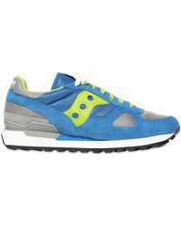 Saucony Shadow Suede & Nylon Sneakers - Lyst