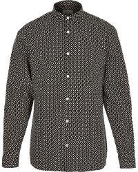 River Island Black and White Geometric Print Shirt - Lyst