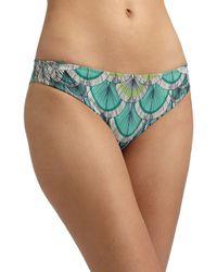 Mara Hoffman Featherprint Bikini Bottom - Lyst