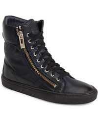 Rogue 'Suite' Leather High Top Sneaker - Lyst