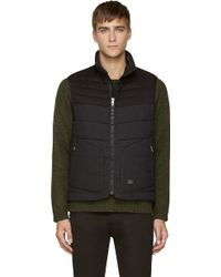 Rag & Bone Charcoal Grey Quilted Wool Stride Vest - Lyst