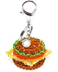 House of Holland - Beaded Burger Key Charm - Lyst