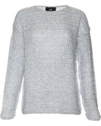 Line   silver Long Sleeve Chunky Claude Sweater   Lyst