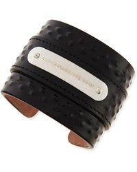 Alexander McQueen Mens Coveredstud Leather Cuff - Lyst