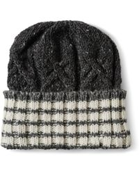 Thom Browne Striped Donegal Wool and Cashmere-blend Beanie Hat - Lyst