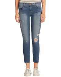 J Brand Mid Rise Capri Jeans In Pulse blue - Lyst