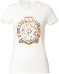 Juicy Couture Cotton College Crest Tshirt - Lyst