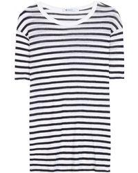 T By Alexander Wang - Striped T-shirt - Lyst