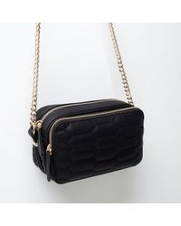 Zara Quilted Messenger Bag - Lyst
