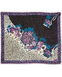 Emilio Pucci Khiva Printed Wool-silk Scarf - Lyst