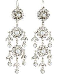 Jose & Maria Barrera | Victorian Pearl & Crystal Chandelier Earrings | Lyst