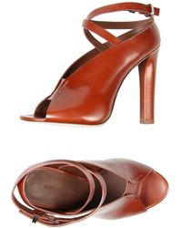 Alexander Wang Brown Sandals - Lyst