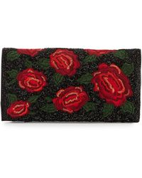Alice + Olivia Me Beaded Rose Clutch Bag - Lyst