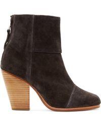 Rag & Bone Grey Suede Classic Newbury Boots gray - Lyst
