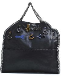 Stella McCartney Falabella 3 Chains Embroidered Bag - Lyst