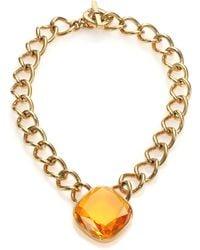 Michael Kors Brilliance Botanicals Cushion Chain Necklace - Lyst