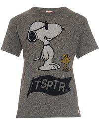 Tsptr - Snoopy-Print Cotton T-Shirt - Lyst