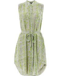 Saloni Matilda Snakeskin-Print Silk Shirt Dress - Lyst