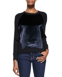 J Brand Erin Contrasting-front Pullover Sweater - Lyst