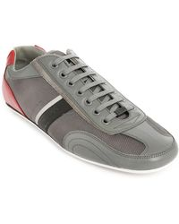 Hugo Thatoz Grey Leather And Mesh Sneakers - Lyst
