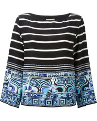 Emilio Pucci Bell Sleeves Printed Blouse - Lyst