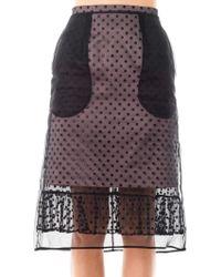 Erdem Hania Dotted Tulle Skirt purple - Lyst
