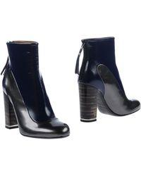 Premiata Blue Ankle Boots - Lyst