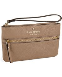 Kate Spade Bee Leather Wristlet - Lyst